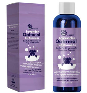 Pet Pleasant Natural Dog Shampoo with Colloidal Oatmeal