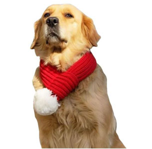 FLAdaorepet Christmas Santa Scarf for Small to Large Dog