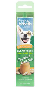 TropiClean No Brushing Peanut Butter Flavor Clean Teeth Dental & Oral Care Gel for Dogs