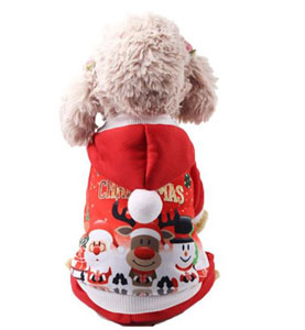 NACOCO Pet Four-Legged Christmas Hoodie Sweater with Santa