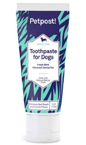 Petpost Toothpaste for Dogs - Coconut Oil and Baking Soda Based Dental Gel