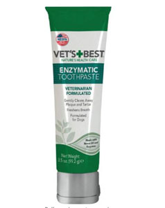 Vet's Best Enzymatic Dog Toothpaste -Teeth Cleaning and Fresh Breath Dental Care Gel