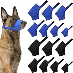 Weewooday 14 Pieces Dog Muzzle Suit